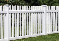 bufftech picket fence vinyl fencing by city fence buffalo ny